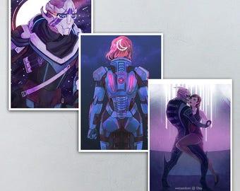 Vetra Nyx, Commander Shepard, Garrus Vakarian Mass Effect 5x7 Prints
