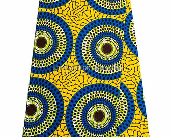 Fabric by the yard /Superior Wax Holandais / African fabrics/ Ankara fabric/ yellow African fabric / African print  Fabric/  WP929B
