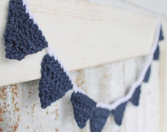 Decor : Crochet Mini Bunting Garland