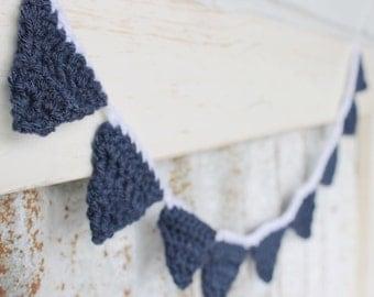 Decor : Crochet Mini Bunting Garland