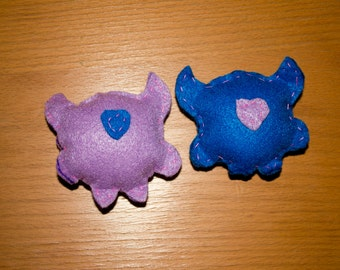 Love Monsters- Small Pet Toys- Set of 2 (for cats & small dogs)