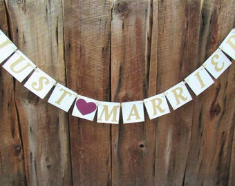 CHOOSE YOUR SAYING - photo prop - rustic chic wedding banner - sweetheart table banner - gold and burgundy - IATY084