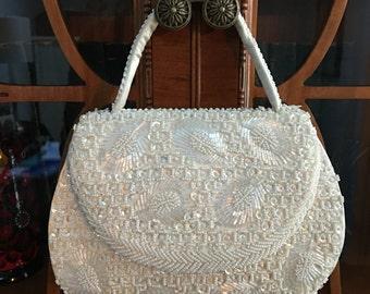 Beautiful La Regale Beaded & Sequined Handbag