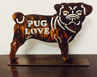 Pug on a Stand