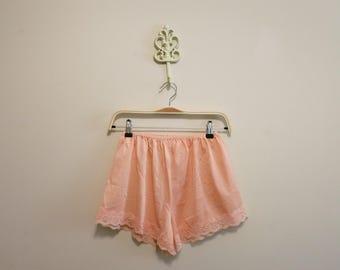 Tap Shorts pink panties panty lace pinup vintage fantasy lingerie 1960s L