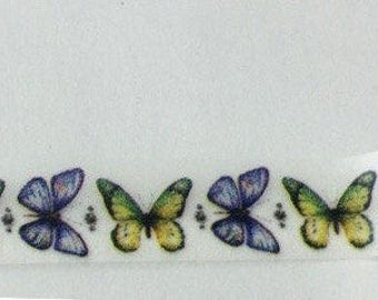 SALE Washi Tape BUTTERFLY ROW 15mm x 10 meters