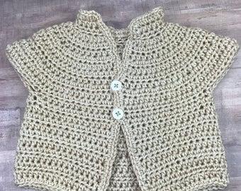 Baby sweater, crochet baby sweater, baby girl sweater,sweater