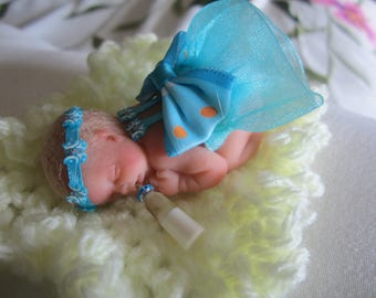 Polymer Clay OOAK Miniature Baby, Annabell