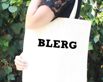30 Rock Tote Bag - BLERG - Liz Lemon - Funny - Tina Fey