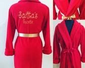 Children's Robe, Christmas Gift Monogrammed Robe, Custom Robe, Personalized Robe, Red Robe, Fleece Robe, Fluffy Robe, Cozy Robe