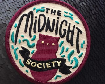 The Midnight Society embroidered patch - LIMITED EDITION