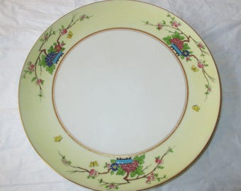 """Lenox MANDARIN 10.5"""" Footed Cake or Sandwich Plate, #1004 P1, for Marshall Field & Co Chicago (c. 1917)"""