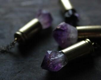 Amethyst Necklace,amethyst pendant necklace,raw amethyst jewelry,bullet jewelry,healing crystal necklace,raw stone necklace,bohemian jewelry