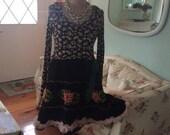 Woodlan Rose Dress Upcycled Fantsy