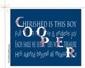 Baseball Nursery Decor Baseball Baby Shower Baseball Gifts For Boys Baseball Name Baseball Newborn Baseball Print Poem 8x10 Cooper