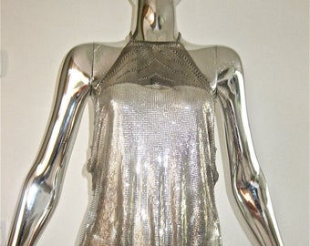 Paco Rabanne vintage 1970's chainmail halter top - rare and collectible