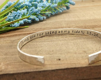 Maid of Honor Gift Sister, Personalized Bridesmaid Gift, Will You Be My Bridesmaid, Bride Squad, Bride Tribe, Secret Message Bracelet