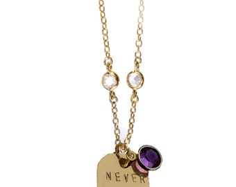 Never Give Up Gold Filled Sprinkle Necklace