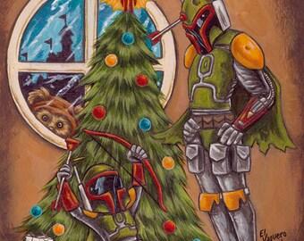 Merry Fett Christmas artwork