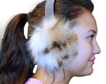 Glacier Wear Bobcat Fur Ear Muffs