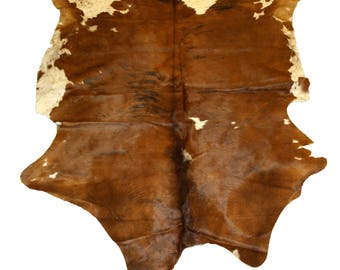 Glacier Wear Cow Hide Leather Hair-On Rug #037