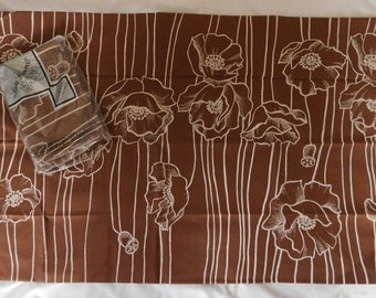 Vintage Lady Pepperell PILLOW CASES 2 standard new in package brown flower design