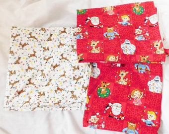 RUDOLPH the red NOSED REINDEER fabric material 2 patterns