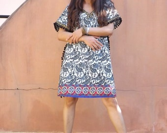 Mini Dress ..Tunic ...Beach Wear ..Cotton