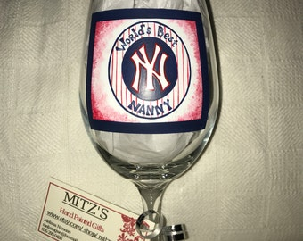 Yankee wine glass for the nanny
