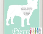 Personalized French Bulldog Silhouette French Bulldog Rainbow Bridge Pet Memorial Love Poem Gift 8 X 10 Print French Bulldog Dog Memorial