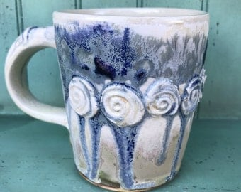 Rosary Mug in Frost and Blue