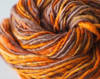 SALE: Bulky handspun yarn, Thick and Thin Yarn, Art Yarn, knitting supplies crochet supplies