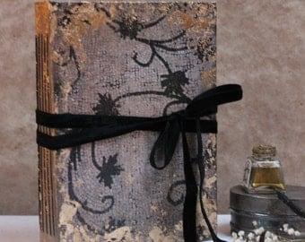 Elegant Black and gold wedding guest book | Handmade Journal | Scrapbook photo album  | Made To Order 8.5X6''