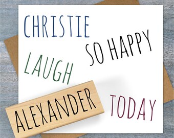 Custom Name Stamp, Custom Word or Phrase Rubber Stamp, Hand Written Style, Wedding Stamp, Signature Stamp, 130