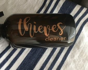 Thieves cleaner bottle & label