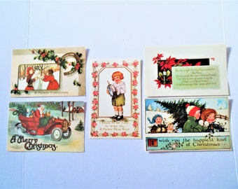 Vintage Postcards  Group of 5 Postcards  FREE SHIPPING USA