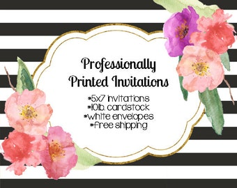 Invitation Printing Service, Profesionally Printed Invitations, Printed Invites, Printed Holiday Cards, Invite Printing Service