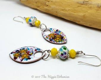 Colorful Bohemian Earrings - Colorful Earrings - Bohemian Earrings - Gift Ideas - Brightly Colored Earrings