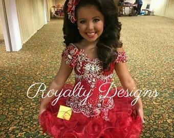 Mega Glitz Beauty Dress Custom made
