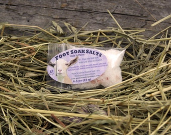 Let It Goat Foot Soak Salts. Foot Bath Soak Salts. Lavender Foot Soak Salts. Lavender Essential Oil Foot Bath Soak Salts.