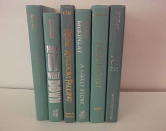 Shades of Mint Green Book Decoration - Shades of Mint Green- Home Decorationn - 6 books