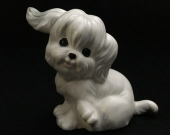 "Vintage 1950's ""Rare"" Norcrest Ceramics Crafted in Japan Playful Puppy A761   (LDT6)"