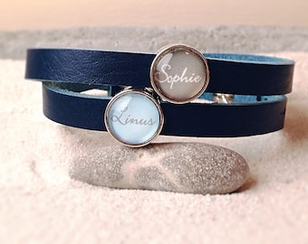 Leather Bracelet with your name