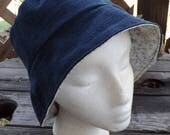 Reversible Two Fabric Bucket Hat Head Cover