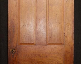 """32""""x90"""" Antique Vintage Victorian Solid Wood Wooden Interior Door 4 Raised Panel"""