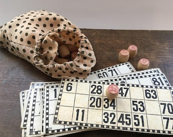 Soviet Vintage lotto game USSR era 1970s board game Counting Lotto game Back to school gift
