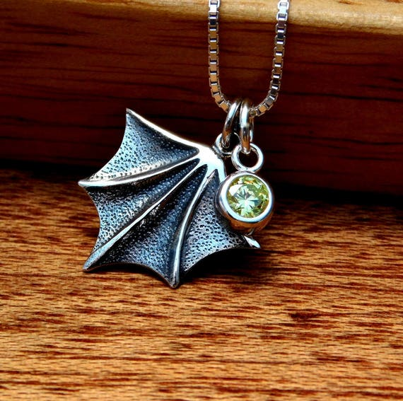 sterling silver batwing necklace, night creature, bat necklace, goth necklace, halloween jewelry,  personalized jewelry