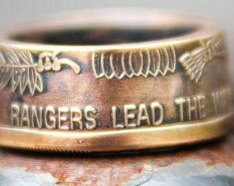 Army Rangers Coin Ring