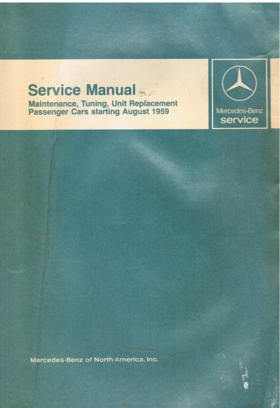 Mercedes Benz Auto Repair Manual, OEM Service Repair  1959-1967