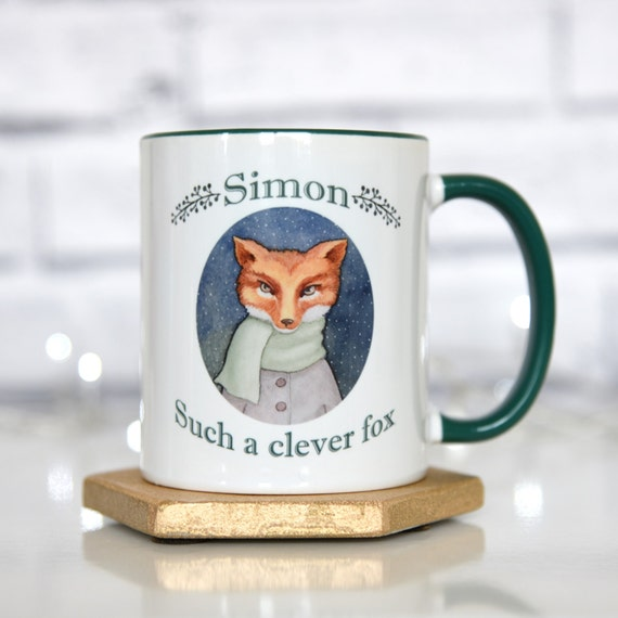 Clever Fox: Items Similar To Personalised Fox Mug, Such A Clever Fox